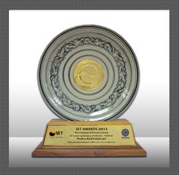 รางวัลบริษัทจดทะเบียนด้านผลการดำเนินงานยอดเยี่ยม ( Best Company Performance Award 2013)